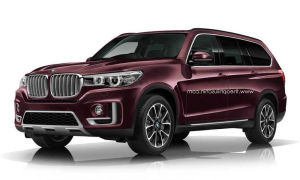BMW X7 2017: новая визуализация колоссально-роскошного внедорожника